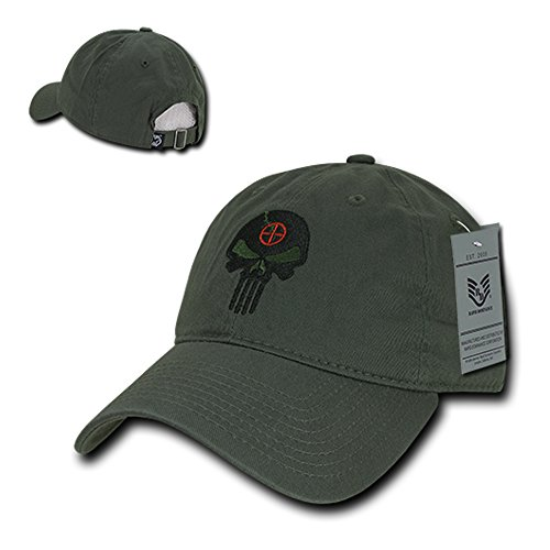 Rapid Dominance Punisher Embroidered Low Profile Soft Cotton Baseball Cap - Olive from Rapid Dominance