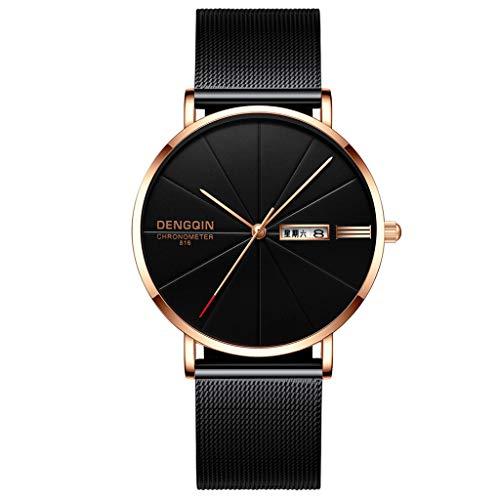 Fashion Men Watch,Fxbar Charming Mesh Band Analog Wrist Watch Minimalist Bracelet Watches Dress Watch(D)