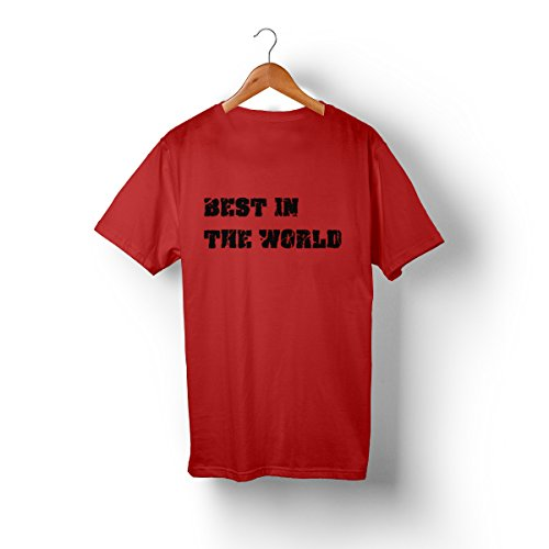 Best In The World CM PUNK T-Shirt (L, Red)