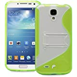 Fosmon HYBO-SK Series PC + TPU Hybrid Kickstand Case for Samsung Galaxy S4 IV / I9500 - Green