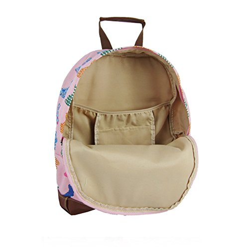 Childrens Style 'Back RABBIT School' SALE to JC SALE Backpack Designer Pink KIDS Bag Kids Canvas Collection Print New nOt0x
