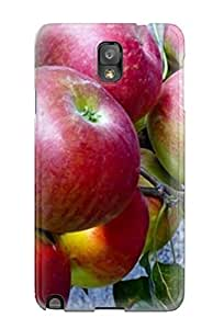 Anti-scratch And Shatterproof Red Aples On A Branch Phone Case For Galaxy Note 3/ High Quality Tpu Case