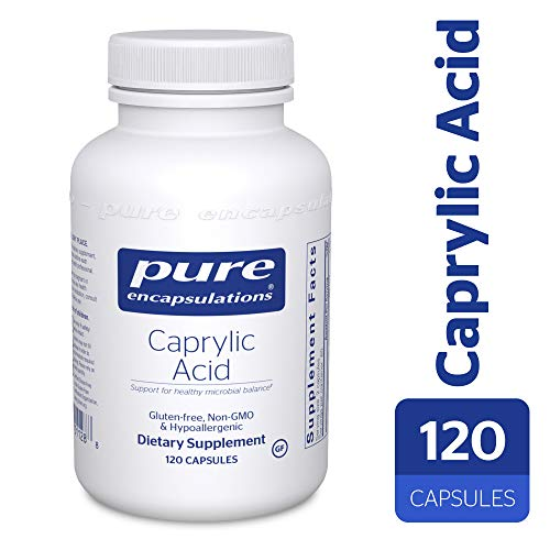 Pure Encapsulations - Caprylic Acid - Gradual Release, Buffered Caprylic Acid, Providing Optimal Support for Healthy Microbial Balance* - 120 -