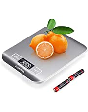 Kitchen Scale, Digital Food Scale, Multifunction Accuracy Scale LCD Display,Stainless Steel Digital Scale with Blue Protective Film (oz/lb/g/kg/ml/Milk ml) (Silver)