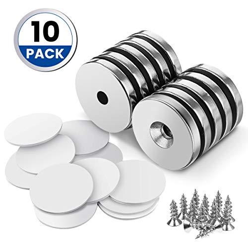 DRILLPRO 10pcs Neodymium Magnets, 1.26