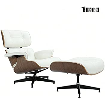 Mid Century Modern Classic Design Replica Style Lounge Chair Ottoman Genuine 100% Grain Italian Leather  sc 1 st  Amazon.com & Amazon.com: Mid Century Modern Classic Design Replica Style Lounge ...