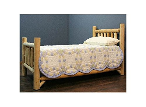 Rustic Appeal Low Bed (King in Unfinished) (King Log Bed)