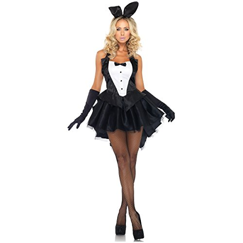 [Tux & Tails Bunny Costume - Medium/Large - Dress Size 8-12] (Bunny Dress Tux Tails Adult Costumes)