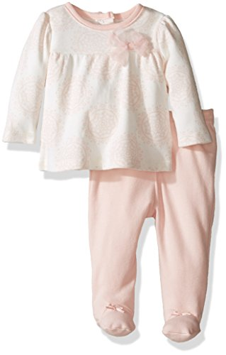 Sterling Baby by Vitamins Baby Girls' Printed 2 Piece Pant Set, Tulle Bow, 3M