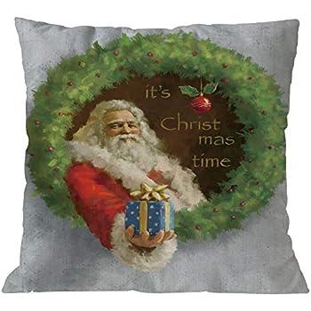 Clearance!Sothread Christmas Throw Pillowcase Decor Sofa Cushion Cover Santa Claus 18