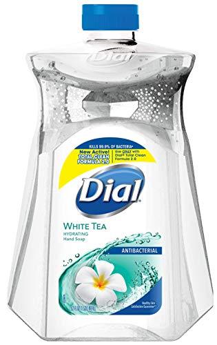 Dial Moisturizer Liquid (Dial Antibacterial Liquid Hand Soap Refill, White Tea, 52 Ounce)