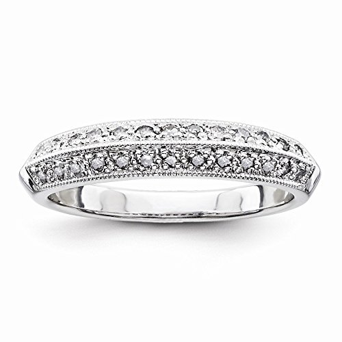 925 Sterling Silver Diamond Eternity Wedding Band for Women Size (0.25ct, H-SI2) by Diamond2Deal