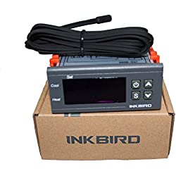 Inkbird Temperature Controller One Relay One Alarm Output ℉/℃ Display Thermostat with NTC Sensor
