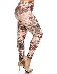 eVogues Women's Plus Size Soft Full Length Leggings