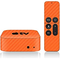 iCarbons Orange Carbon Fiber Skin for Apple TV 4th Gen. / Remote Skin Included 4th Generation