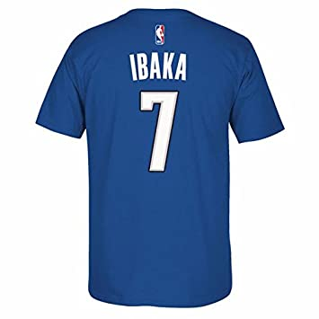 Serge Ibaka Orlando Magic NBA Adidas hombres azul oficial reproductor nombre y número Jersey camiseta,