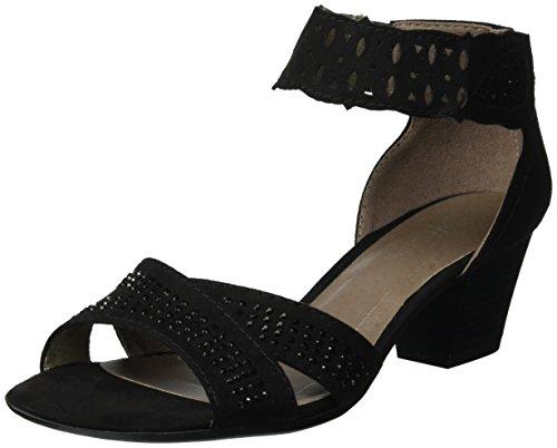 Softline28362 - Sandalias de Punta Descubierta Mujer Negro (Black 001)