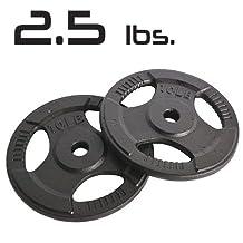 2.5lbs Cast Iron Grip Standard Plates 1 Inch