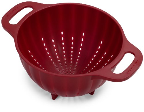 KitchenAid Plastic Colander/Strainer, 5-Quart, Red