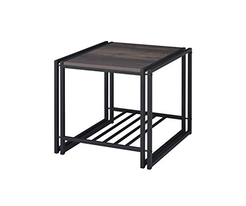 Proman Products TB17046 Santa Fe End Table, Dark Brown (Room Mission Living Furniture Lodge)