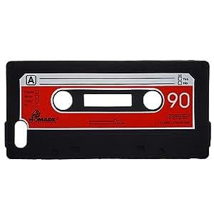 Amazon.com: Silicone Casette Tape iPhone 5 Case - Black: Cell Phones