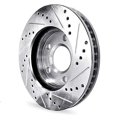 For 2014-2015 Mazda 6 Front Rear Drill/Slot Brake Rotors Kit + Ceramic Brake Pads: Automotive