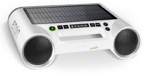Eton Rukus Portable Bluetooth Solar Powered Wireless Speaker System (White) - (NRKS100W)