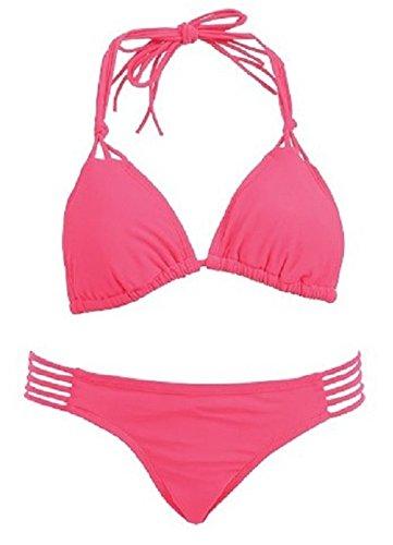 Two Piece Swim Suit String Bikini (Small, Coral)