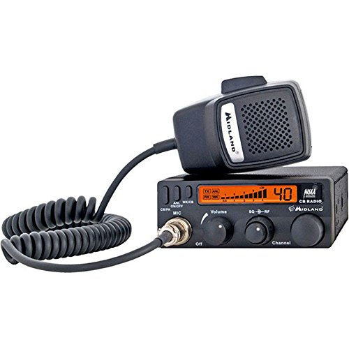 Midland 1001LWX 40 Channel Mobile CB with ANL, RF Gain, PA, and Weather Scan