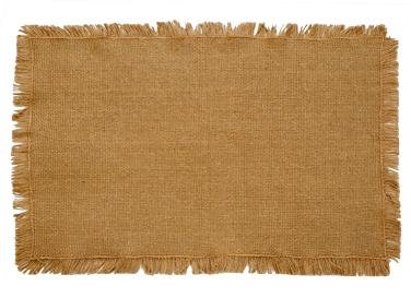 Burlap Natural Cotton Fringed Placemats (Set of 2) 12x18 - Fringed Placemat
