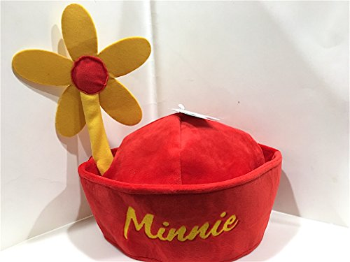 Disney Parks Minnie Mouse Flower Adult Size Hat NEW