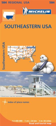 USA South East Map (Michelin Regional Map)