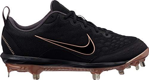 (Nike Women's Lunar Hyperdiamond 2 Pro Fastpitch Softball Cleats (Black/Gold / 9 M US))