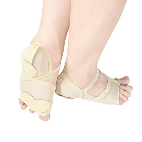 Fitness MiDee Foot Thong Shoes Dance Dance Full Feet Lyrical Bare Sole Skin rtxYv0rq