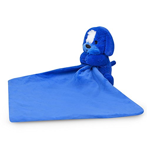 Waddle Puppy Dog Baby Toy Rattle Blue Baby Blanket Newborn Baby Gift for Boys