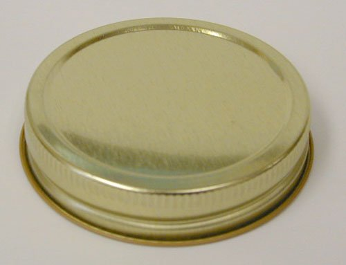 Gold Caps, One-Piece, Pack of 12 (Wide Mouth Lid One Piece compare prices)