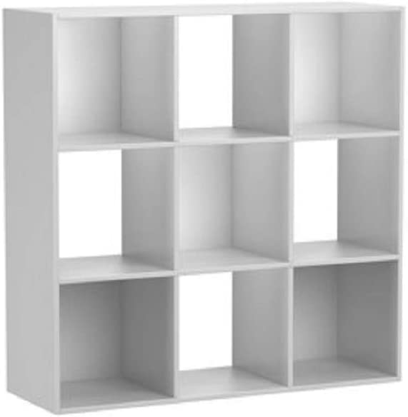 Multiple Colors White 9-compartment storage cube Mainstays 9 Cube Organizer