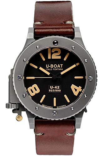 U-boat u-42 Mens Analog Automatic Watch with Leather Bracelet 6157
