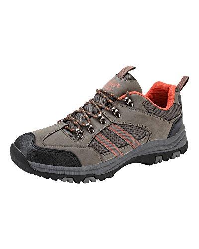 Cotton Traders Unisex Womens Mens Lightweight Trekker Shoes Grey