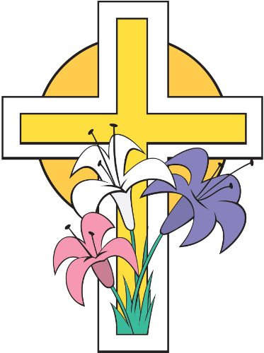 Easter Cross Wall Decal Cutout 35.5