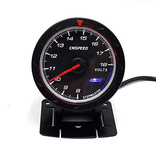 60MM Car Voltmeter 8-18V Voltage Gauge Red & White Lighting Volt Gauge Volt Meter Sensor Device: