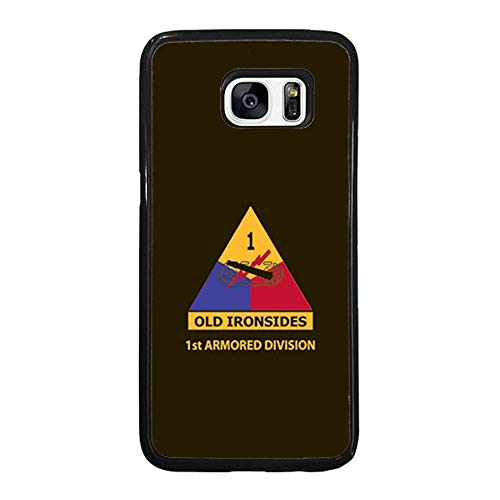 Skinsends United States Army - 1st Armored Division Phone Case Compatible with Galaxy S7, The Dirty Dorito | Old Ironsides Hard Plastic Case Cover Compatible with Samsung Galaxy S7