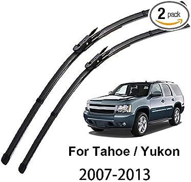 Amazon Com Xukey 22 22 Front Windshield Wiper Blades Fit For Chevrolet Tahoe Gmc Yukon Mk3 2007 2013 Set Of 2 Automotive