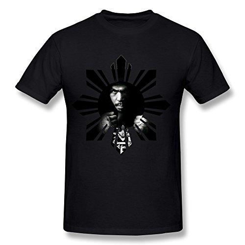 LVHUAN Mens Manny Pacquiao2 Tshirts Size L Black