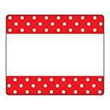 Trend Enterprises, Inc. T-68043BN Polka Dots Red Terrific Labels, 36 per Pack, 6 Packs
