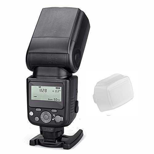 Meike MK-930 II LCD GN58 Manual Flash Speedlite for Sony MI Hotshoe Camera A7 A7R A7S A7 II A7R II A7S II A6300 A6000 with EACHSHOT White Diffuser (No TTL, just Manual) by EACHSHOT