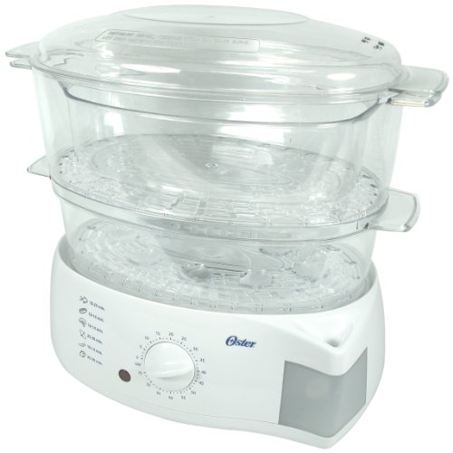 Oster 5711 Electronic 2-Tier 6.1-Quart Food Steamer, White by Oster