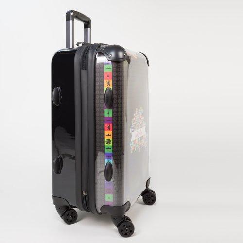 HAUPTSTADTKOFFER® 40 Liter (ca. 55 x 35 x 24 cm) · Handgepäck · Modell: STYLE · TSA Schloss · MAGIC FLOWER