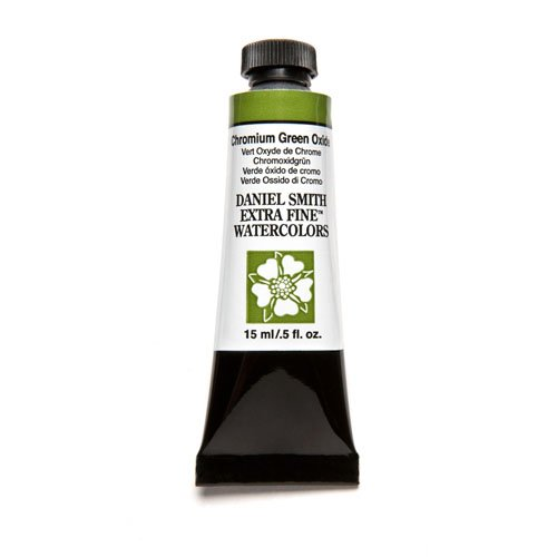 DANIEL SMITH Extra Fine Watercolor 15ml Paint Tube, Chromium Green Oxide