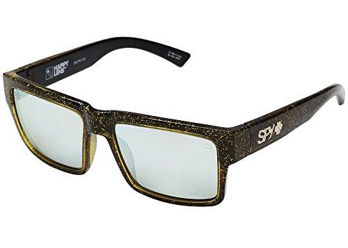 Spy Optic Unisex Montana Las Vegas Black/Gold - Happy Gray Green/Silver Mirror - Vegas Sunglasses Las